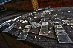 Objetos abandonados de la universidad imagen de archivo libre de regalías