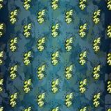 Objetos abstractos amarillos contra un fondo oscuro Foto de archivo libre de regalías