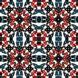 Objetos abstractos coloreados en un modelo inconsútil del fondo ligero Fotos de archivo libres de regalías