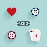 Objetos abstratos do casino Imagens de Stock Royalty Free