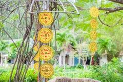 Objetos afortunados lunares de la decoración del Año Nuevo las palabras significan recuerdos Fotos de archivo