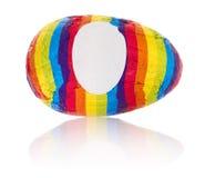 Objetos aislados: huevo del arco iris Imagen de archivo