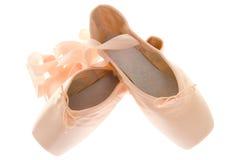 Objetos aislados: zapatos del pointe Foto de archivo