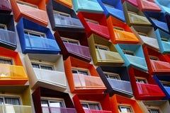 Objetos arquitectónicos coloridos abstractos Foto de archivo libre de regalías