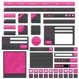 Objetos cor-de-rosa do Web ilustração do vetor