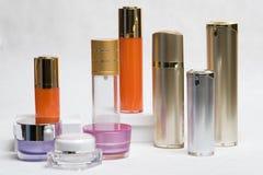 Objetos cosméticos Imágenes de archivo libres de regalías