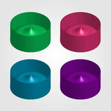 Objetos 3d coloridos para o uso como o logotipo Fotos de Stock