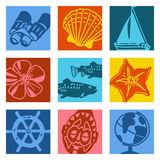 Objetos da arte de PNF - navigação & curso Foto de Stock Royalty Free