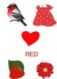 Objetos da cor vermelha Fotos de Stock Royalty Free