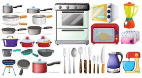 Objetos da cozinha Fotografia de Stock