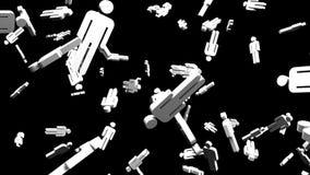 Objetos dados forma humanos no fundo preto ilustração royalty free