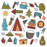 Objetos de acampamento Foto de Stock
