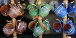 Objetos de cerámica Fotos de archivo