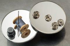 Objetos de costura Fotografía de archivo