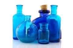 Objetos de cristal azules imagen de archivo libre de regalías