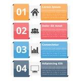 Objetos de Infographic con números y texto libre illustration
