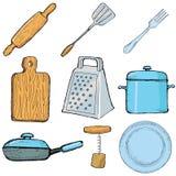 Objetos de la cocina Imagen de archivo libre de regalías