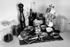 Objetos de la cocina del hogar Foto de archivo libre de regalías