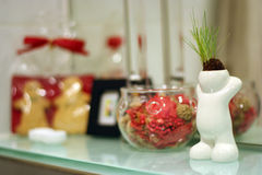 Objetos de la decoración del tocador Foto de archivo libre de regalías