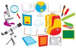 Objetos de la escuela libre illustration