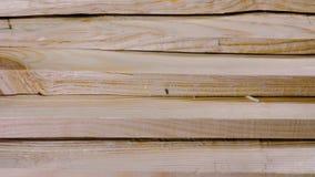 Objetos de la industria de la madera Tablón de madera acabado almacen de video