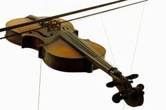 Objetos de la música de los instrumentos de la secuencia del violín aislados Foto de archivo
