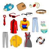 Objetos de la moda fijados Foto de archivo libre de regalías