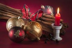 Objetos de la Navidad Foto de archivo libre de regalías