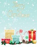Objetos de la Navidad Fotos de archivo