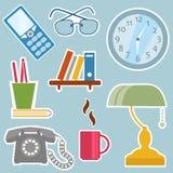 Objetos de la oficina ilustración del vector