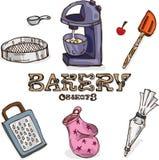 Objetos de la panadería Foto de archivo