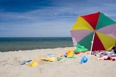Objetos de la playa Fotografía de archivo libre de regalías