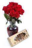 Objetos de la tarjeta del día de San Valentín fotografía de archivo libre de regalías