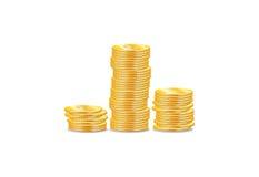 Objetos de las monedas de oro Imagen de archivo