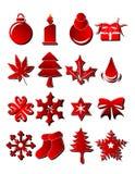 Objetos de Navidad Imagen de archivo libre de regalías
