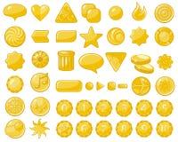Objetos de oro del Web Imagen de archivo libre de regalías