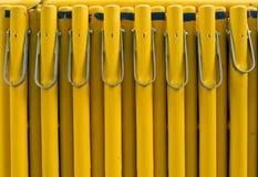 Objetos de seguridad amarillos de la barrera Foto de archivo libre de regalías