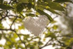 objetos decorativos del corazón Fotografía de archivo