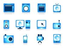 Objetos del aparato electrodoméstico fijados. ilustración del vector
