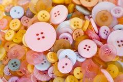 Objetos del arte: botones Fotografía de archivo