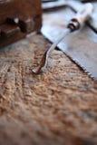 Objetos del carpintero imágenes de archivo libres de regalías