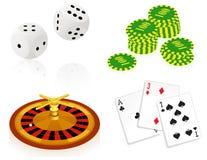 Objetos del casino ilustración del vector