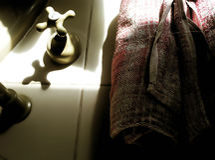 Objetos del cuarto de baño foto de archivo