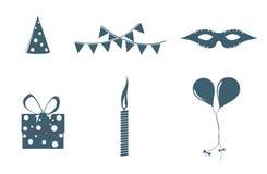 Objetos del cumpleaños Imágenes de archivo libres de regalías