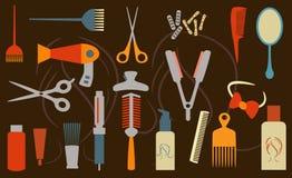 Objetos del Hairstyling Imágenes de archivo libres de regalías