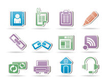Objetos del Internet y del Web site Imagen de archivo libre de regalías
