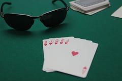 Objetos del póker Fotos de archivo libres de regalías