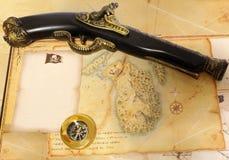Objetos del pirata Imagen de archivo libre de regalías