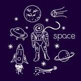 Objetos del vector de espacio Imagenes de archivo