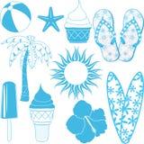 Objetos del verano Imagen de archivo libre de regalías